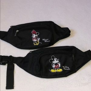 Disney Fanny Pack Minnie and Mickey Bundle